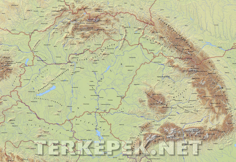 kárpát medence domborzati térkép Kárpát medence domborzati térképe kárpát medence domborzati térkép